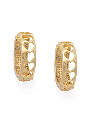 Gold-Toned Geometric Hoop Earrings