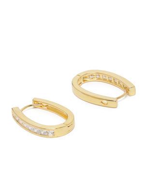 Gold-Toned Oval Hoop Earrings