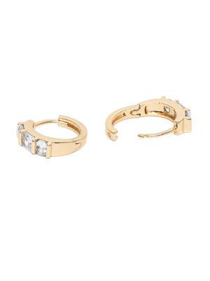 Silver-Toned & Gold-Toned Circular Hoop Earrings
