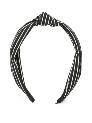 Black & White Striped Hairband