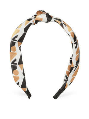 Black & White Printed Top Knot Hairband