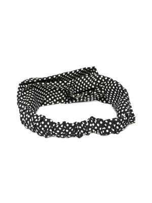 Black & White Polka Dot Crossover Hairband