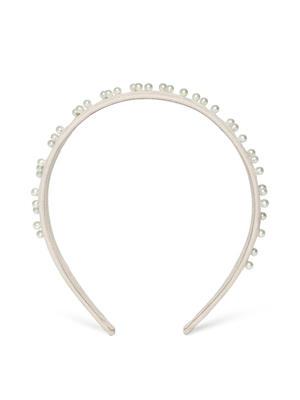 Beige Pearl Beaded Hairband