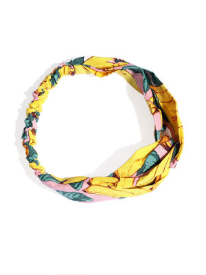 Yellow & Pink Printed Hairband