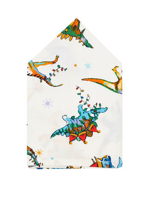 Brocode Classic Mens White  Jurassic Park Pocket Square