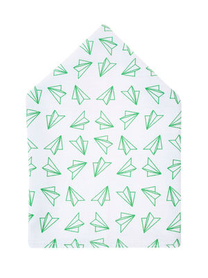 Brocode Classic Mens White Chasing Paper Planes Pocket Square
