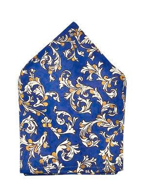 Brocode Classic Mens Premium Satin  Blue Satin  Fleur Pocket Square