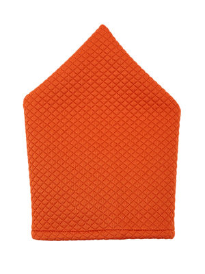 Brocode Classic Mens Premium Orange Jacquard Wedding Collection  Pocket Square