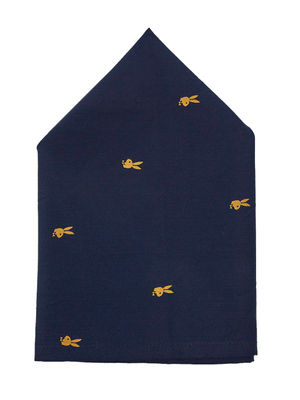 Brocode Classic Mens Premium Navy Blue The Playboy  Pocket Square