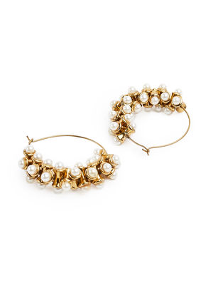 Fida Ethnic Indian Traditional Beautiful Pearl Hoop Earrings For Women
