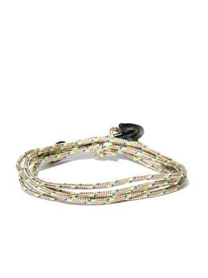 Men Red Braided Wrap Bracelet