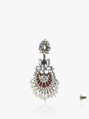 Silver-Toned Dome Shaped Jhumkas-ONESIZE-Silver