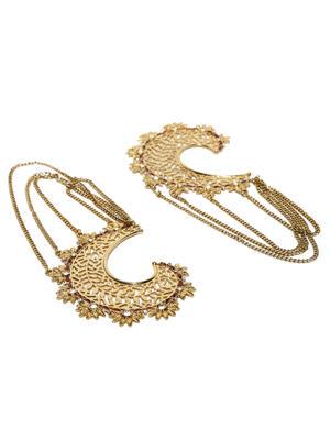 Gold-Toned Floral Adjustable Ring