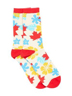 Bro Code Men Multicoloured Patterned Above Ankle-Length Socks