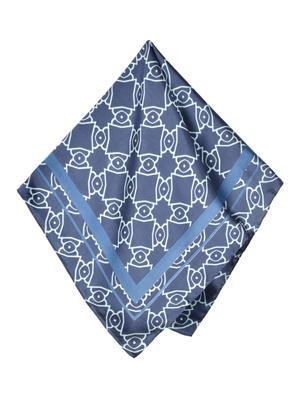 ToniQ MultiPurpose  Navy Blue Women's Stylish Square Scarf