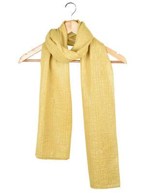 Womens Sunny Yellow Lurex Cotton Scarf