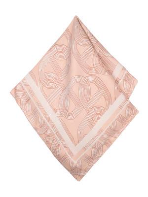 ToniQ MultiPurpose  Peach Waverly Women's Stylish Satin Square Scarf