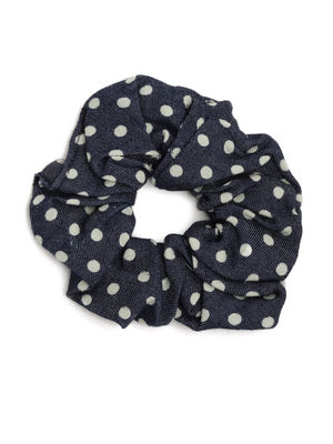 ToniQ Set of 2 Denim Fabrich Scrunchie For Women