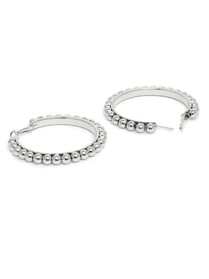 ToniQ Silver Bohemian Hoop Earring For Women