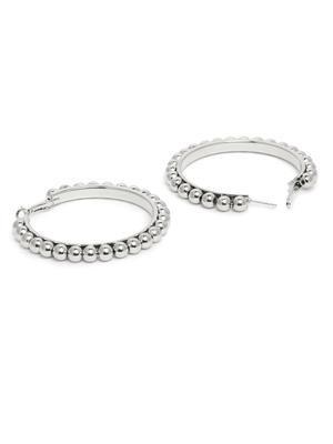 ToniQ Silver Bohemian Hoop Earring For Women
