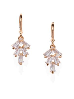 Gold-Toned Contemporary Drop Earrings For Women