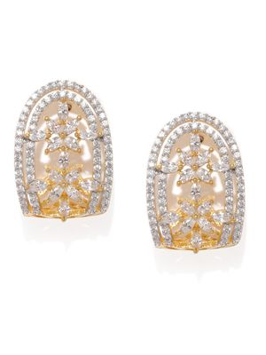 Gold-Toned Floral Drop Earrings For Women