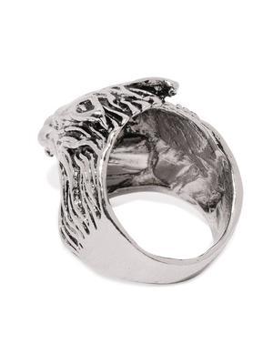 Men Silver-Toned Finger Ring