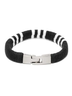 Men Black  White Bracelet-ONESIZE-Black
