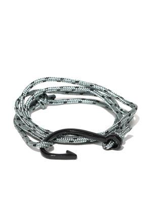 Men Grey Patterned Wrap-Around Bracelet