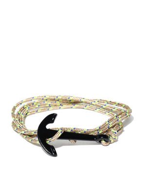 Men Beige Patterned Wrap-Around Bracelet