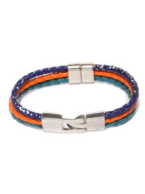 Men Blue  Orange Bracelet-ONESIZE-Blue