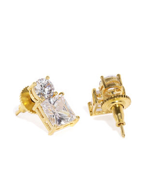 Gold-Toned Square Studs