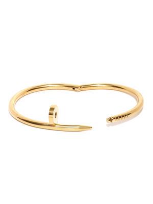 Men Gold-Toned Nail-Shaped Bracelet