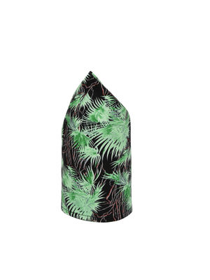 Black Green Printed Pocket Square