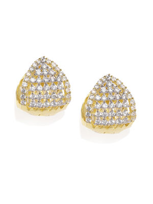 Gold-Toned Oval Studs
