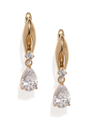 Rose Gold & White Xenia Drop Earrings