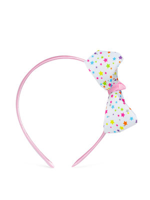 Kids Star Printed Bow Hair Band For Girls