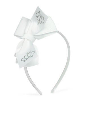 Kids White Bow Hair Band For Girls