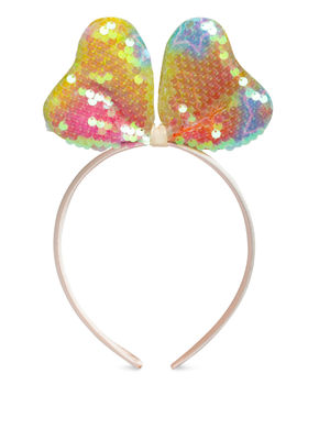 Kids Holographic Minnie Mouse Ears Sequin Hair Band For Girls