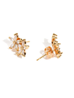 Gold-Plated Floral Studs