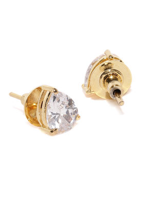 Gold-Plated Teardrop-Shaped Studs