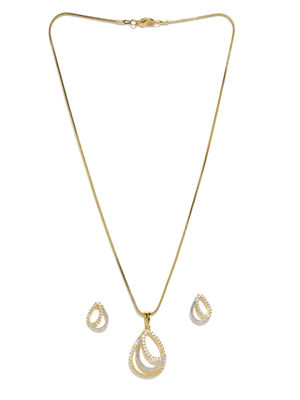 Gold-Plated Cz Jewellery Set For Women