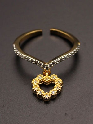 Gold-Plated Cz Ring For Women