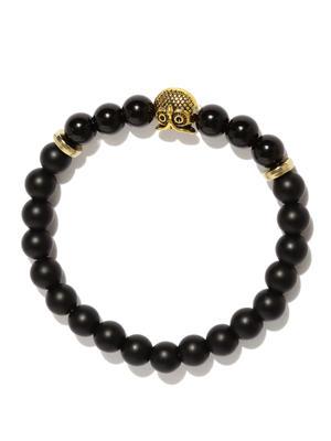 Owl Charm Onyx Stone Bracelet