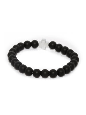 Black Beaded Bracelet For Men