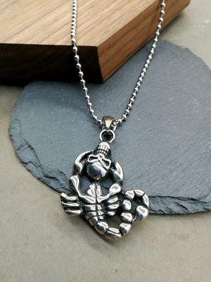 Silver Metal Necklace For Men