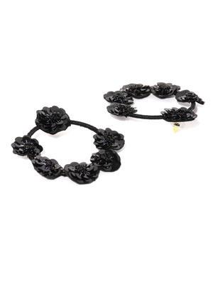 Black Circular Sequinned Drop For Women