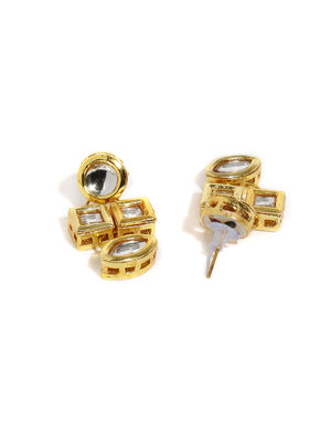 Gold Tone Geometric Drop Earring For Women