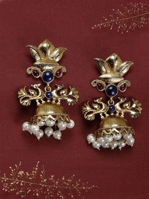 Gold-Toned Dome Shaped Jhumkas