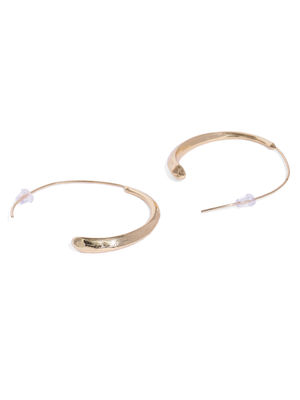 Gold-Toned Geometric Half Hoop Earrings